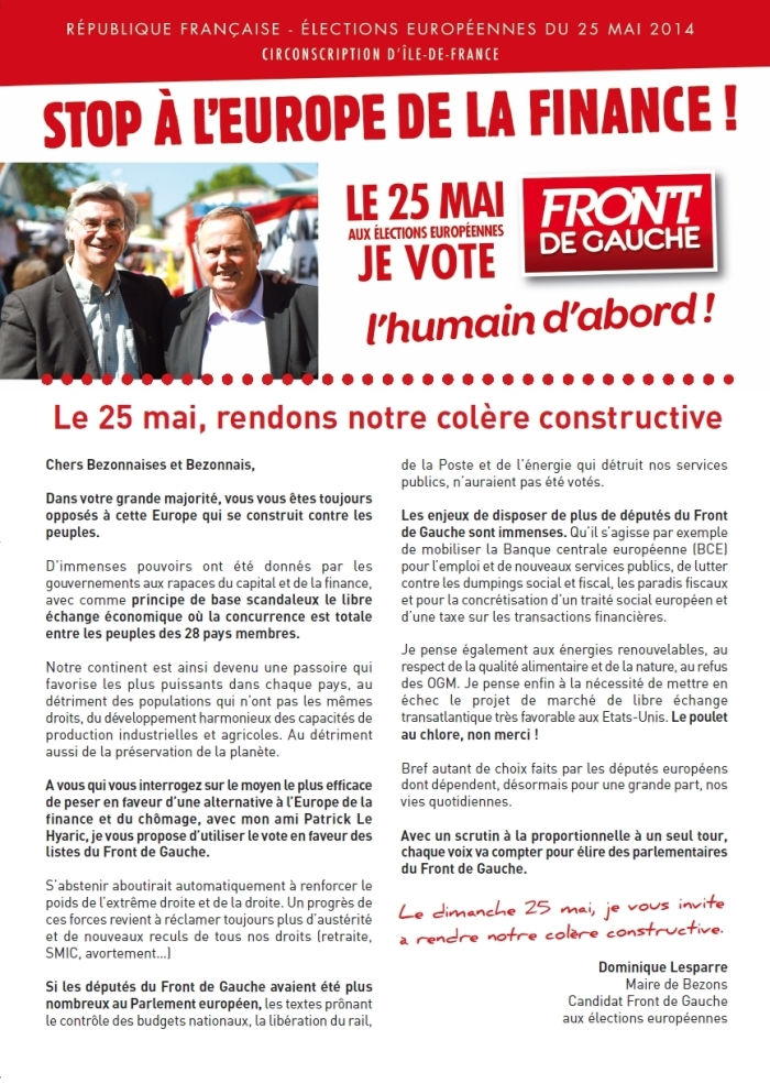 tract européennes
