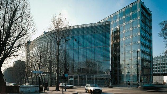 Photographie de l'Institut du monde arabe à Paris, en 20
